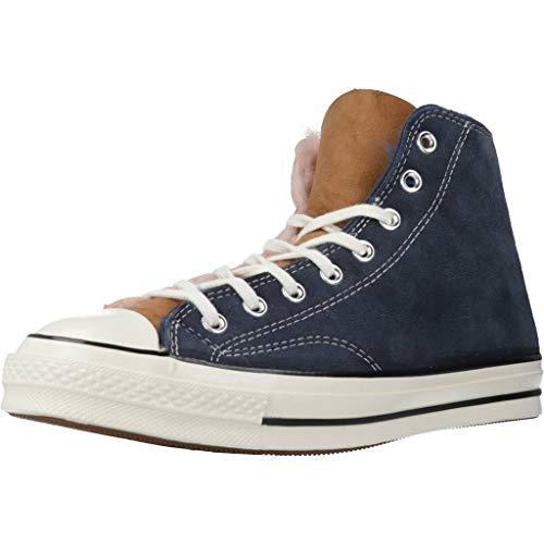 Converse Chuck Taylor All Star 70 High Top Sneaker stylische Echtleder-Schuhe Freizeit-Schuhe Alltags-Schuhe Bunt, Größe:46 1/2