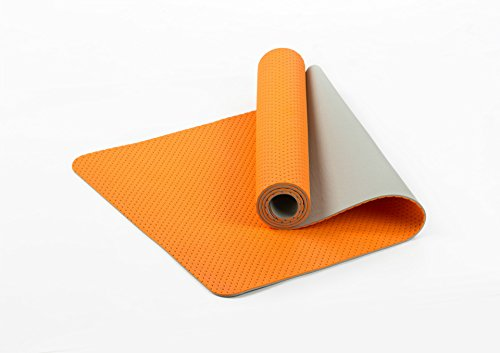 Tappetino per yoga a nido d'ape TPE, fitness pad traspirante a due colori eco-friendly, tappetino yoga eco-friendly 183*61*0.6cm Arancione