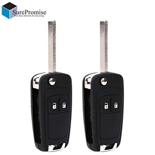 2 Stück 2 Tasten Klappschlüssel Schlüssel Gehäuse Autoschlüssel Funkschlüssel Fernbedienung