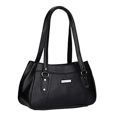 Aisna Women's Daisy Handbag(ASN-194)(Black)