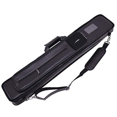 ASports Billard Queue Tasche, Billard Stick Reisetasche, 12-Loch Tasche Billard Queue Tasche Pool Stick Tragbare Tragetasche für 4 Kolben und 8 Schäfte,Schwarz