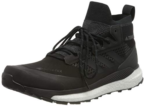 adidas Mens Terrex Free Hiker Gore-TEX Walking Shoe, Core Black/Grey/Active Orange, 42 2/3 EU