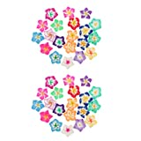 oshhni 40 Pezzi di Perline di Fiori Colorati Set di Perline Artigianali per Braccialetti con Cui Armeggiare