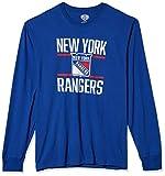 OTS NHL New York Rangers Men's Rival Long Sleeve Tee, Double Bar, Medium