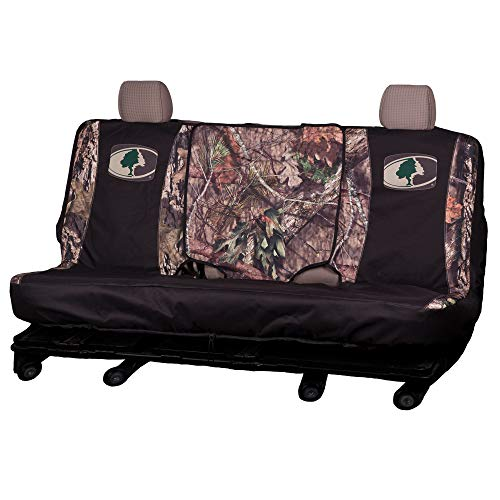 Mossy Oak Camo Bench Seat Cover, Black/Country, Full Size, Bench-Seat Cover with Fold-Down Center Console Access, Water Resistant 600D Polyester