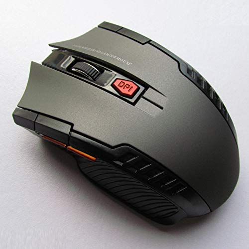 2.4Ghz 800-1200-2000 DPI Mini Wireless Optical Gaming Mouse Mice& USB Receiver for PC Laptop (Color : Grey)