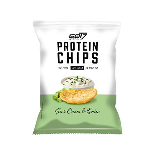GOT7 High Protein Chips - Snack 40% Protein Fitnesssnack – Ideal zur Diät und für zwischendurch 6x 50g (Sour Cream & Onion)