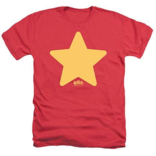Camiseta e adesivos Steven Universe Star Cartoon Network, Red Heather, Medium