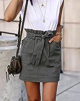 The Drop Minifalda Utility Verde con Cintura Alta por @lucyswhims, S