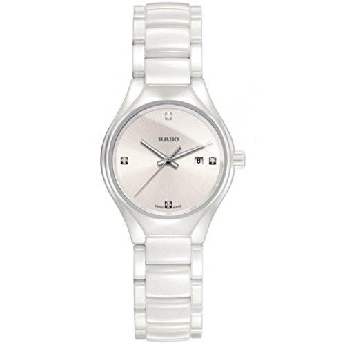 Rado True High-tech White Ceramic Diamond Ladies Watch R27061712