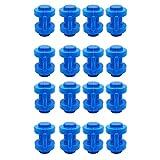 Pommee Housse de Protection Universelle pour Trampoline, 8/16 pièces 25mm logement Trampoline pôle Capuchon Filet Crochet Trampoline...