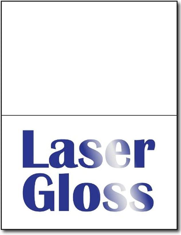 Half Fold Greeting Cards, Laser Gloss - 100 Cards