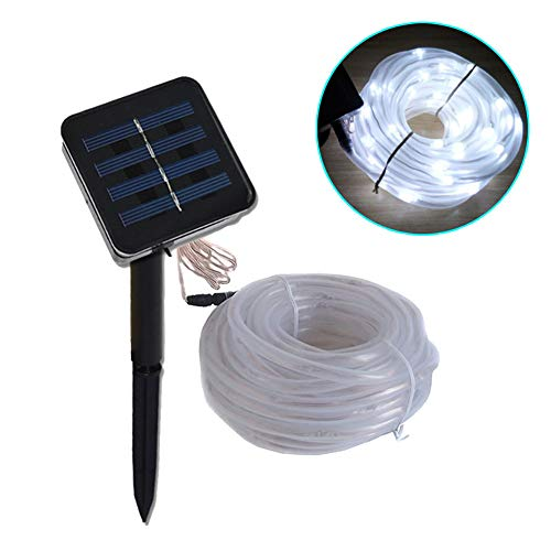 Solar Light-50/100M Outdoor Waterproof Solar LED Light Garden Light LED Rope Light Solar String Light Solar Fairy Light (White)