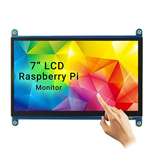 Touchscreen Monitor, Elecrow 7-Inch Raspberry Pi Screen Resolution1024X600 Compatible with Raspberry Pi 4 3B+ Windows