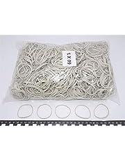 Progom - Gomas Elasticas - 60(ø38) mm x 3mm - blanco - bolsa de 1kg