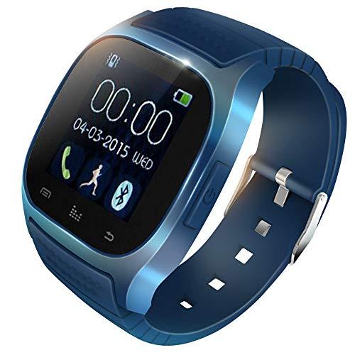 KawKaw M26 Plus Fitness Smartwatch Wasserdicht mit Pulsmesser, Kalorienzähler und Schrittzähler - Fitnesstracker, Laufuhr oder Sportuhr für Damen, Herren (kompatibel mit Android und iOS) (blau)