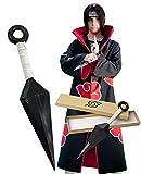 MeDoTrendy 1 Pcs Ninja Cosplay Accessories Big Kunai Toy High-Impact Plastic Naruto Itachi Kunai Cosplay Accessories for Ninja Fans 26CM