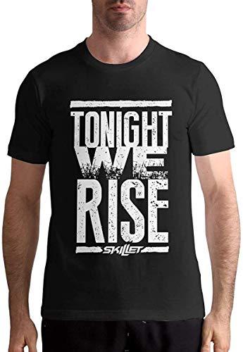 QIAOJIE Skillet Band Shirt Herrenmode T-Shirt Baumwolle T-Shirts Kurzarm