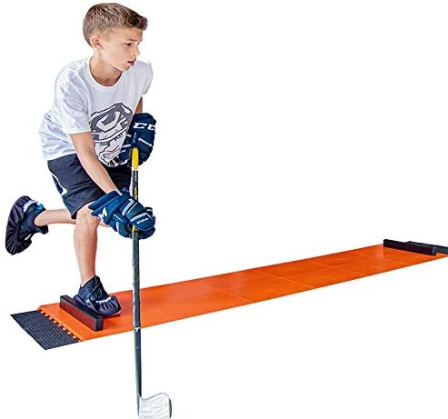 Hockey Revolution Adjustable Sliding Board Indoor and Outdoor Training Tiles with Stoppers Booties product image