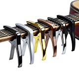 QWSX Guitar string fixing tool 1pcs Guitar Capo for Acoustic Electric Guitar Aluminium Material Guitar Accessories Guitarlele Capo Capotraste Simple and easy to use (Color : B)