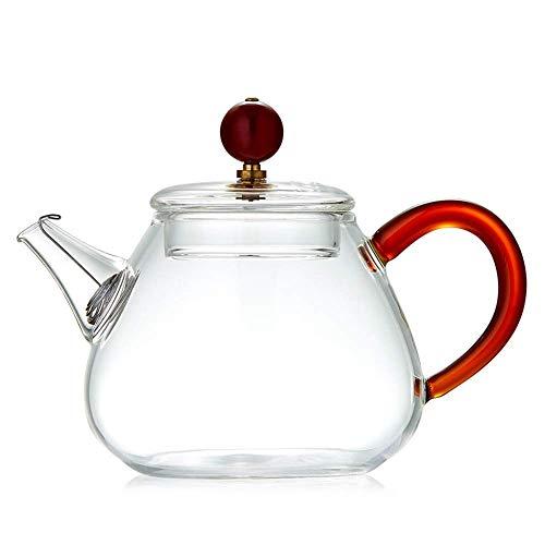 YINGGEXU Juego de té de vidrio resistente al calor filtro flor té hogar engrosamiento vidrio té negro té kungfu té conjunto 220 ml