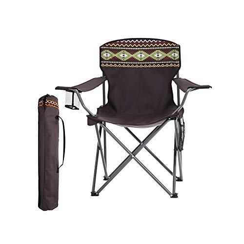 LifeX National Style Modèle Fauteuil Pliant en Plein Air Portable Pliable Mazar De Pêche Pliable Chaise Art Peinture en Acier Pliant Banc Dossier Croquis Dossier Plier Siège (Color : Style A)