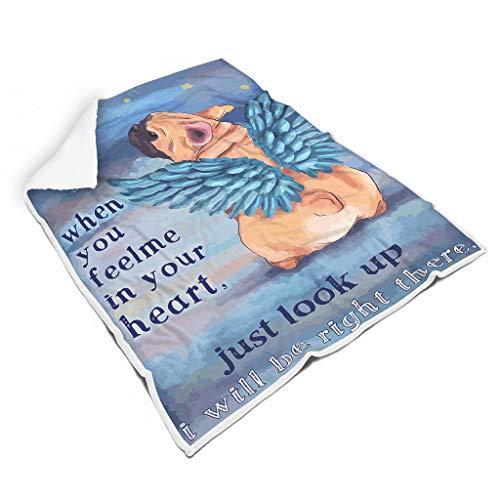 Vrnceit Mops-engel ademend kleurloos Fuzzy-deken voor slaapbank Voel je goed voor babywarme stijl