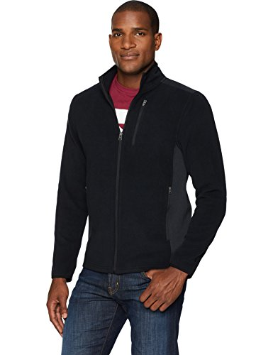 Starter Men's Polar Fleece Jacket, Amazon Exclusive, Black, Large