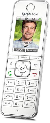 AVM FRITZ!Fon C6 DECT-Komforttelefon (hochwertiges Farbdisplay, HD-Telefonie, Internet-/Komfortdienste, Steuerung FRITZ!Box-Funktionen) weiß, deutschsprachige Version
