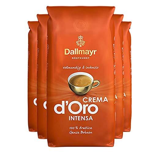 5x DALLMAYR Crema d' Oro INTENSA (á ganze Bohnen / 1000g)