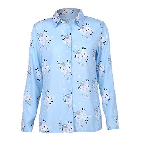 U/A Blusas Camisa De Manga Larga De Algodón De Las Mujeres Camisas De Las Señoras Tops Imprimir Blusa Más El Tamaño