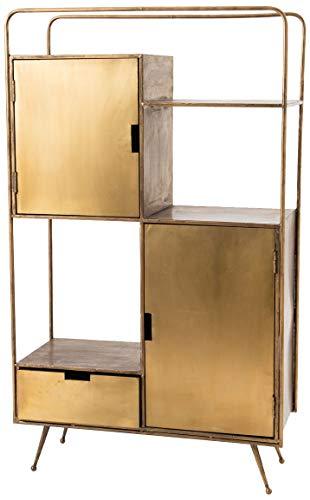 Amadeus Buffet 2 Portes 1 tiroir en métal Gold