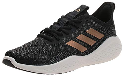 adidas Fluidflow, Zapatillas para Correr Mujer, Core Black Tactile Gold Met F17 Grey Six, 40 EU