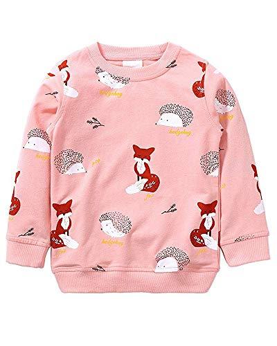 Weihnachten Mädchen Sweatshirt für Kinder Baumwolle Top Casual Jumper Mädchen T Shirt Kleinkind Kleidung Langarm Pullover Winter Frühling Alter 2-7 Jahre (1-Rosa, Numeric_92)