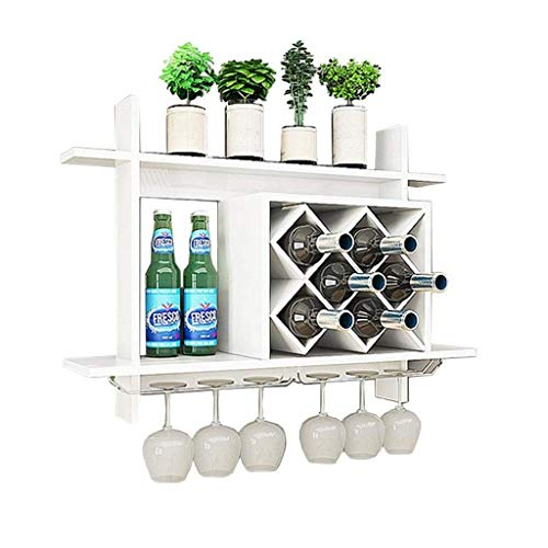 Bandeja de almacenamiento Montado en la pared Mueble de vino MDF Mueble de MDF, rejilla creativa, colgando, tenedor de la botella de vino, marco de la unidad de la pared para la barra de cocina Restau