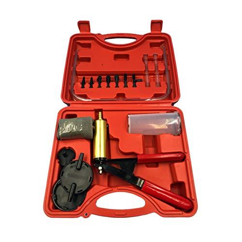 Ashley GAO 2 en 1 adaptador de purga de líquido de frenos de coche para cambio de aceite, kit de prueba de bomba de vacío para todos los vehículos