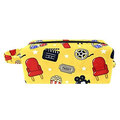 Tragbare Reise-Kosmetiktaschen, Pinseltasche mit Tragegriff, Ketten Anker Tote Kulturtasche Zubehör Organizer für Frauen Mädchen, Mehrfarbig 10, 8.2x3.1x3.5 in/21x8x9 cm,