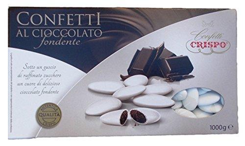 Crispo - Confetti al Cioccolato Fondente Bianchi - 1 kg