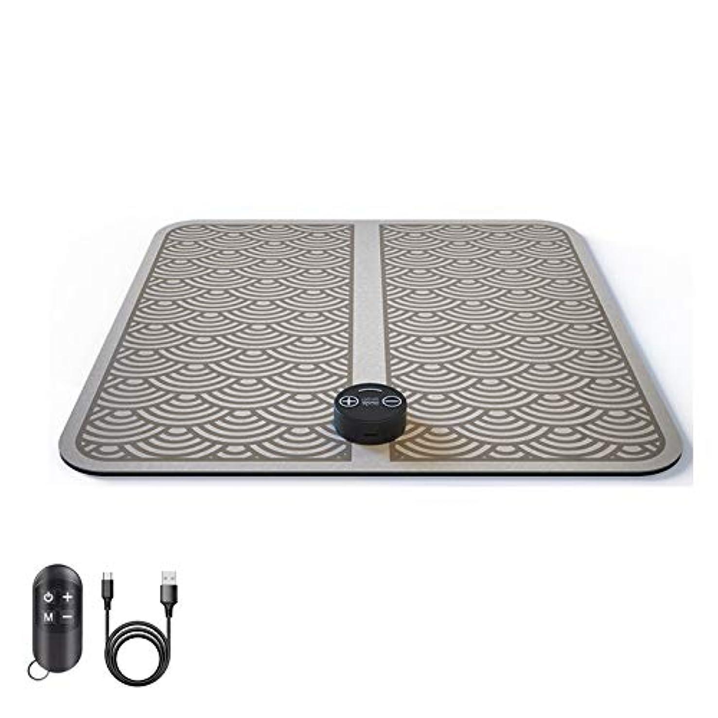フロンティアコンドームハプニングEMSフットマッサージャー電動フットマッサージャー、折り畳み式ポータブル電動マッサージクッション、リモートコントロールフットマッサージャーフットマッサージャーUSB充電式電子筋肉刺激装置