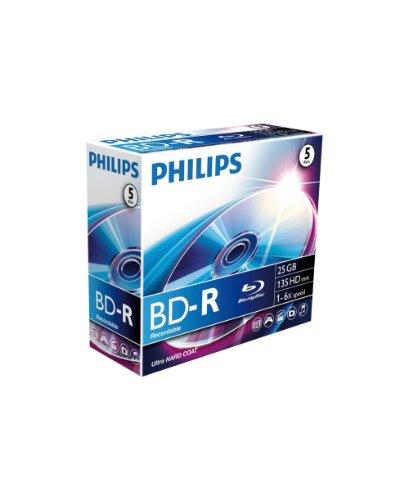 Philips 25Gb BD-R/Caja De Joya 1-6X (5 Disco)