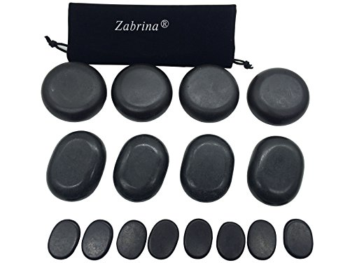 Zabrina Big Hot Stones Set Massage Stones Hot Stone Basalt Hot Rocks Stones Warm Stone Hot Stone Massage Body Massage Natural Lava Rock Basalt Stone for Professional — Great for Spas, Massage Therapy