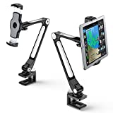 AboveTEK Supporto per iPad/Tablet a Braccio Lungo, Supporto Girevole a 360 ° e con Staffa Morsetti per culla...