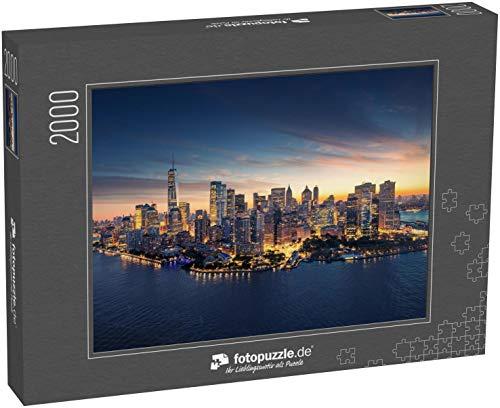 Puzzle 2000 Teile New York City Panorama-Skyline bei Sonnenaufgang - Klassische Puzzle, 1000/200/2000 Teile, in edler Motiv-Schachtel, Fotopuzzle-Kollektion 'USA'