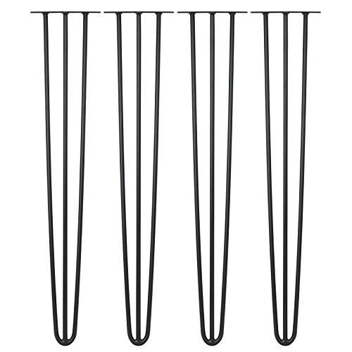 Hartleys 4er Set Haarnadel-Tischbeine mit Dreifachstab, Längen und Stärken