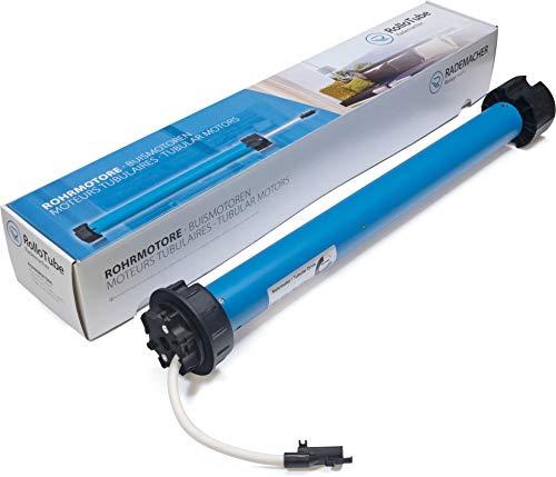 Rademacher RolloTube S-line Sun DuoFern, 40 Nm, motor de toldo inalámbrico, autoadaptable, detección de bloqueos, detección de obstáculos (SLDSM 40/16PZ, 23784076)