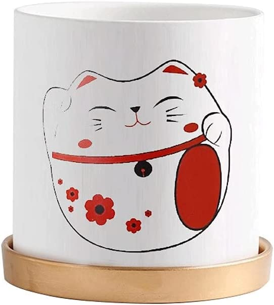 70% OFF Outlet jijunpinpai Nordic Style Flower Ceramic Simple At the price of surprise Round pots