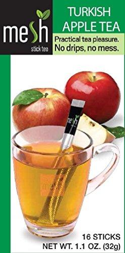 MESH Turkse appelthee 16 sticks – thee genieten gemakkelijk gemaakt – geen zak, geen druppel, geen lepel – eenvoudig in het gebruik, natuurlijk in de smaak.