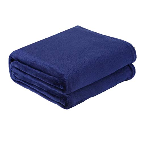 N\A Mantas para Sofa, Sofá Tiro Luz Fino Mecánico Lavar Franela Mantas Soft Cálido Coral Fleece Manta Hoja de Invierno Colcha Manta con Mangas (Color : Deep Blue, Size : 50x70cm)