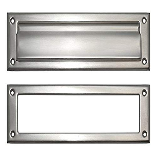 """BRASS Accents A07-M0070-619 Mail Slot, 3"""" x 10"""", Satin Nickel"""