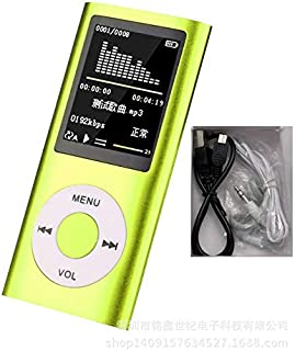 BEESCLOVER Music Player Radio HiFi Mp3 Player Digital LCD Screen Voice Recording FM Player Green Creative Lifestyle